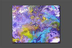 """Abstract Canvas Art Painting 50x40 cm or 20""""x 16"""" FREE SHIPPING  Original Contemporary Modern Wall Art Paintings by Ivan Negin---Odry"""