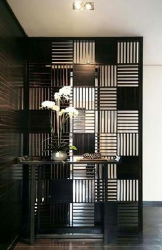90 Inspiring Room Dividers and Separator Design 76 - Rockindeco Wall Partition Design, Partition Screen, Partition Ideas, Partition Walls, Room Divider Walls, Room Divider Screen, Home Interior, Interior Design, Screen Design