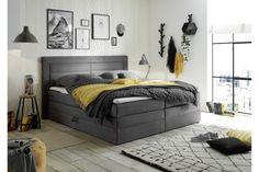 Boxspringbett Saba 2 in grau Textiles, 2 In, Ottawa, Bedroom, Inspiration, Furniture, Home Decor, Products, Hermes