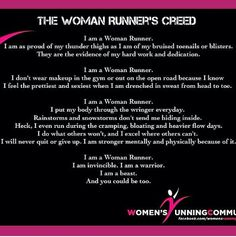 The woman's runners creed