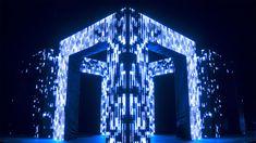AXIOM: Audiovisual Installation by Kit Webster – Inspiration Grid | Design Inspiration #art #artinstallation #ledlights #lightinstallation #interactive #inspirationgrid