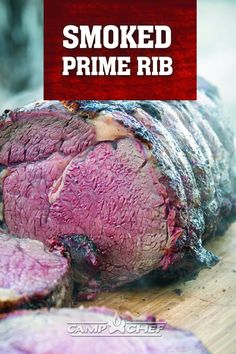 This prime rib will be the star of your holiday party! This method is foolproof, and the results are so delicious. As a finishing touch, serve the meat with creamy horseradish sauce that is easy to prepare and perfect with prime rib. Slow Cooked Brisket, Slow Cooked Lamb, Smoked Brisket, Slow Cooked Meals, Pellet Grill Recipes, Smoker Recipes, Grilling Recipes, Beef Recipes, Good Meals To Cook