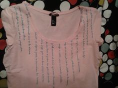 Poem Hand painted T-Shirt