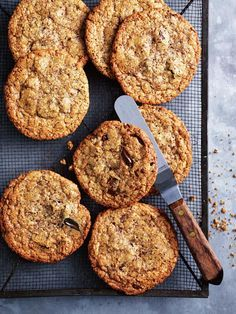 choc-chip hazelnut cookies from donna hay
