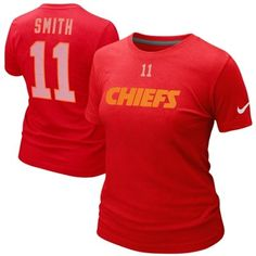 Nike Alex Smith Kansas City Chiefs Ladies Player Name and Number T-Shirt.  Want!!!