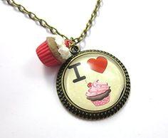 I love cupcake- Glascabochon Kette schmuck-stadt: