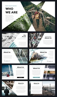 Modern Powerpoint Template by Thrivisualy o. - Portal Modern Powerpoint Template by Thrivisualy o. -Portal Modern Powerpoint Template by Thrivisualy o. Ppt Design, Powerpoint Design Templates, Slide Design, Modern Powerpoint Design, Cv Template, Keynote Template, Keynote Design, Pamphlet Template, Header Design