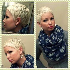 super blonde haircut