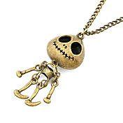 Antique Copper Vintage Skeleton Man Necklace – USD $ 3.24