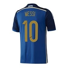 9cb40290c0d Adidas Argentina  MESSI 10  Home 2014 Replica Soccer Jersey (White Columbia  Blue