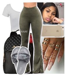""""""""""" by lamamig ❤ liked on Polyvore featuring WithChic, Betsey Johnson, GET LOST and Puma"""