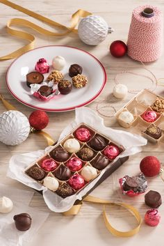 Our truffles are perfect for any gifting moment. Christmas Desserts, Christmas Ideas, Xmas, Holiday Baking, Christmas Baking, Peppermint Oreos, Delicious Recipes, Yummy Food, Cupcake Recipes