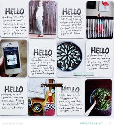 HELLO *Project Life MAIN KIT ONLY* by eliseblaha at @Studio_Calico #SCcamelot