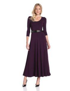 Calvin Klein Women%27s Maxi Dress With Belt