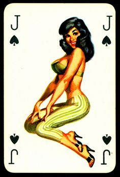 Think, Playing cards with fantasy naked pictures