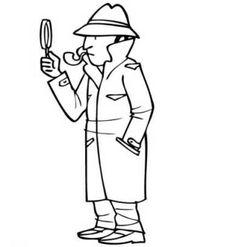 malvorlage lupe | Kostenlose Malvorlage Berufe: Kostenlose Malvorlage: Detektiv zum ...