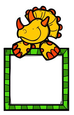 ✿**✿*PANCARTA*✿**✿* Dinosaur Projects, Dinosaur Activities, Borders For Paper, Borders And Frames, Cute Dinosaur, Dinosaur Party, Islamic Cartoon, Cute Notes, Page Borders