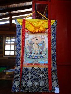 Thangka Manjushri - Buda da Sabedoria - Budismo Tibetano