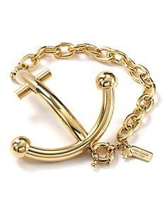 Kate Spade golden anchor