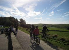 Cyclists on the Tissington Trail at Parsley Hay by Pedal Peak District