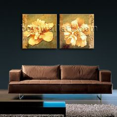 HD 2-panel canvas print on artist canvas with floral in contemporary style. It is available in numerous sizes to fit any size room!