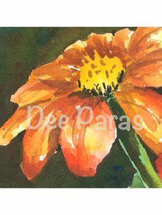 Gerber Daisy Giclee Print                         *Dee Paras~Etsy.com