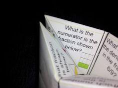 Fraction fortune teller...kinesthetic learning!