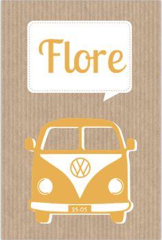 #geboortekaartjes #meisje #volkswagen #busje #auto #oranje #kraft #oranje #stoer #schattig #retro Announcement, Volkswagen, Cool Pictures, Birth, Van, Retro, In This Moment, Cards, Vehicles