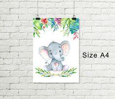 Ideas Baby Room Elephant Theme Nursery Sets For 2019 Elephant Themed Nursery, Safari Theme Nursery, Jungle Nursery, Elephant Print, Nursery Themes, Nursery Prints, Nursery Art, Baby Room Art, Baby Wall Art