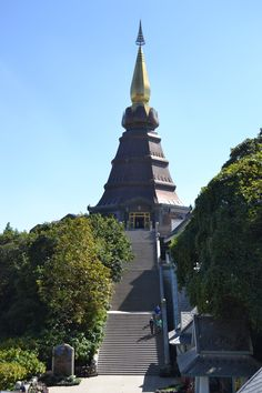 #Temple on top of #DoiIthanon #highest #mountain in #Thailand. In #honor of our #king and #queen.