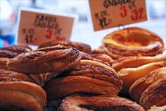 """snegle - """"snails"""" - spiral kind of frosted Wienerbrod (viennese pastry/danish)."""