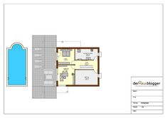 Hanghaus 231m2 KG.vpl Duplex House Design, Beach House Decor, Home Decor, Planer, Architecture Design, House Plans, 1, Floor Plans, How To Plan
