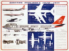 Qantas Aircraft 1920-1971 Poster Best Airlines, Cargo Airlines, Wright Brothers Plane, Boeing 707, Planes, Air New Zealand, Flying Boat, Aircraft Photos, Jet Plane