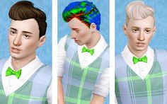 Aikea's male hair retextured by Beaverhausen - Sims 3 Downloads CC Caboodle