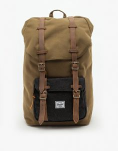 Durable, heavyweight cotton canvas backpack from herschel supply co. Unique Backpacks, Men's Backpacks, Hiking Backpack, Herschel Backpack, Herschel Supply Co, Canvas Backpack, Stylish Men, Leather Bag, Travel Bags
