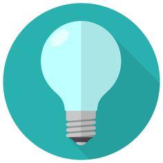 電球のフラットアイコン