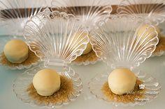 açúcar mascavo com bombom branco ouro branco para imitar pérola