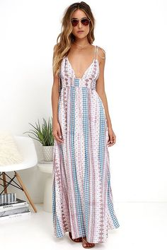 2aa83cca0e35a Maxin  Relaxin  Multi Print Maxi Dress