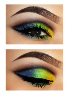 Colorful Cut Crease beauty eye shadow make up sexy glam pretty cut crease