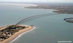 pont de l'île de Ré, vue aérienne vers le pertuis Breton