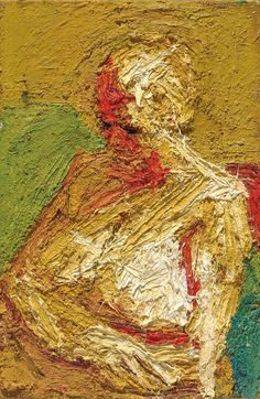 Frank Auerbach - E.O.W., Half-length Nude, 1958