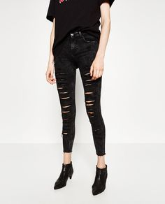 Cut Out Skinny Jeans from Zara R699,00