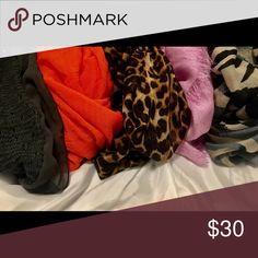 Assortment of scarfs (5) Scarfs -scarfs- scarfs!!  beautiful scarfs ! Accessories Scarves & Wraps