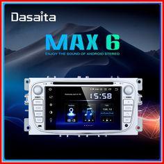 "Discounted Dasaita Car DVD Player 7"" DSP 2 din Android 9.0 Radio for Ford Focus 2 S-max Mondeo C-max Galaxy Bluetooth GPS Navigator TDA7850 2020 Cheap Car Audio, Ford Focus 2, Android 9, Top Cars, Multimedia, Bluetooth"