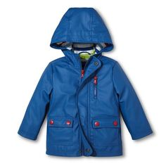 Toddler Boys' Solid Raincoat