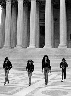 The Ramones photographed by Danny Fields.