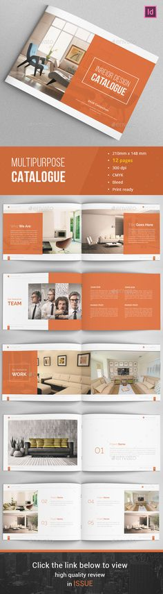 Portfolio Brochure Catalogs Template PSD, INDD - 20 Pages - interior design brochure template