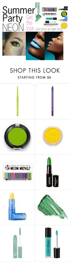 """neon summer party"" by ginevra15 ❤ liked on Polyvore featuring beauty, MAC Cosmetics, NYX, Lipstick Queen and By Terry"