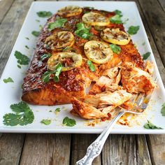 Cedar Plank Harissa Smoked Salmon is smoky, zesty and super tasty! Savory Salmon Recipe, Smoked Salmon Recipes, Moroccan Couscous, Easter Brunch Menu, Cedar Planks, Taste And See, Chicken Wing Recipes, Brain Food, Fish And Seafood