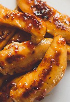 Grilled Chicken Tenders Recipe | dearcrissy.com | #chicken